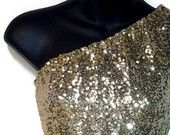 High quality stretch sequin tunic