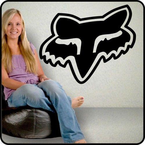 large FOX RACING logo vinyl Wall Decal - Fox head sticker wall decor   TouchofVinyl - Housewares on ArtFire  sc 1 st  Pinterest & large FOX RACING logo vinyl Wall Decal - Fox head sticker wall decor ...
