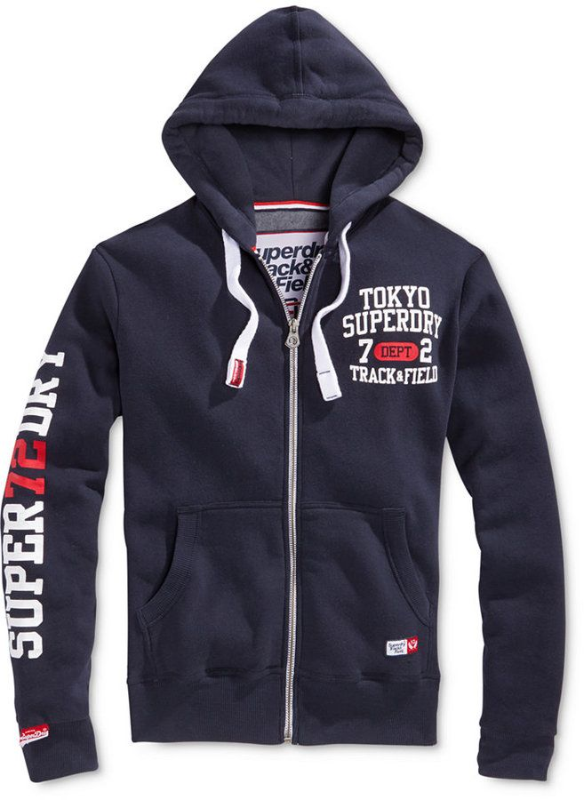 Superdry Men's Trackster Graphic-Print Logo Hoodie