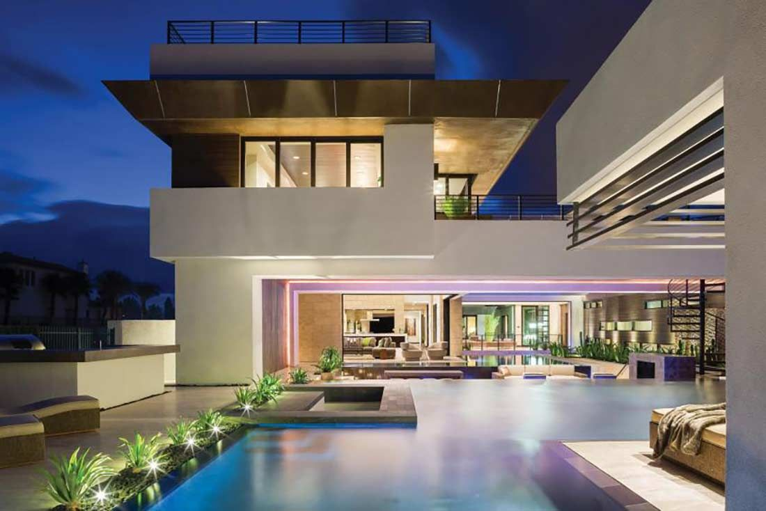 The new american home ultra modern dream homes luxury for Blue house builders