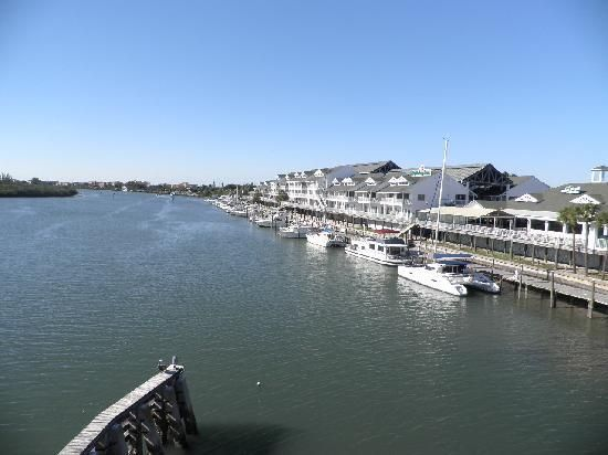 A view of the hotel from the bridge. Capotured by a hotel guest. #hiharbourside