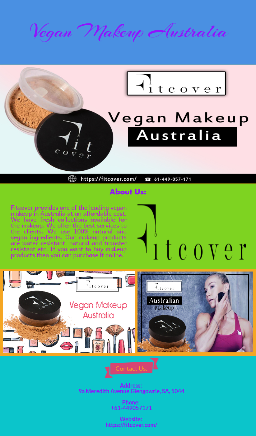 If you want to buy the vegan makeup products in Australia