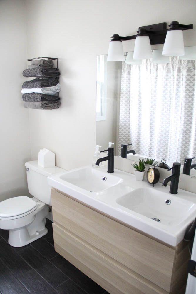 Affordable Modern Bathroom Reveal Modern Bathroom Floating Bathroom Vanities Ikea Vanity