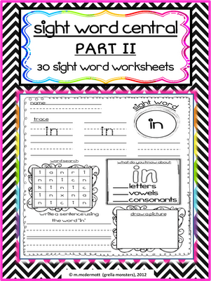 SIGHT WORD WORKSHEETS PART 2! | Sight Words | Pinterest | Kind