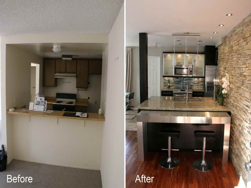 Modern Kitchen Remodel Exterior Interior Before & After Small Kitchen Remodels  Modern Kitchens  Rooms .
