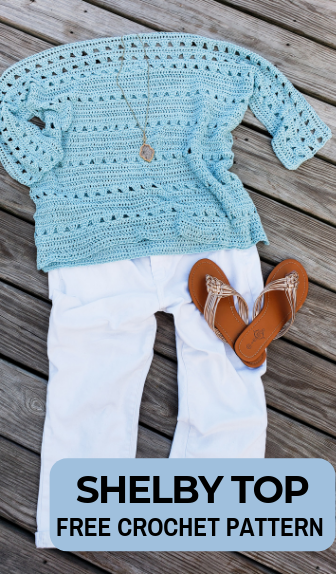 Free Crochet Top Pattern: The Shelby Top!