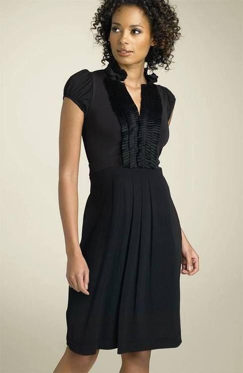 Bcbg Tuxedo Trim Matte Jersey Dress