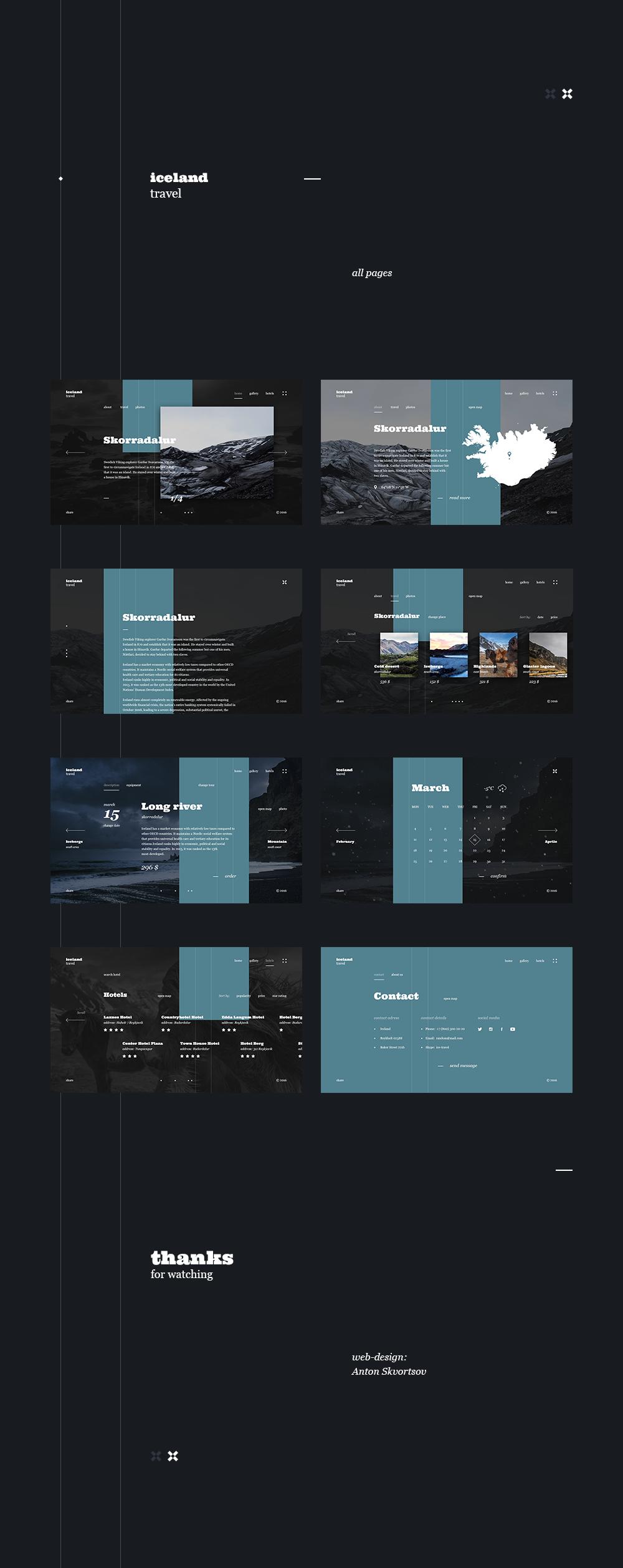 Iceland Travel website concept | Compass | Pinterest | Paginas web ...