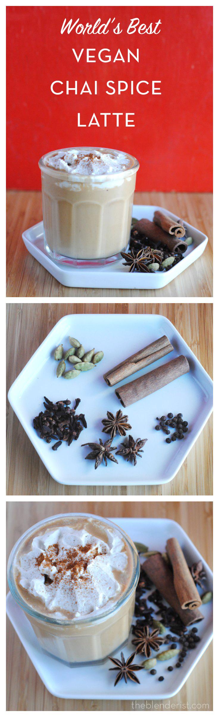 Vegan Chai Latte w/cashew milk (with a recipe for Chai Concentrate)