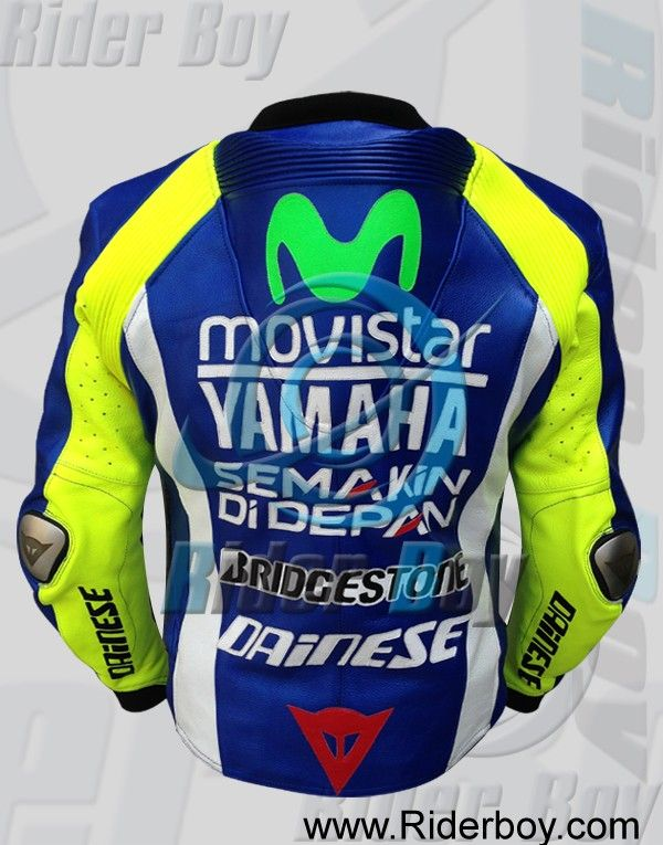 Valentino Rossi VR 46 Motorbike Racing Moto GP Leather Jacket
