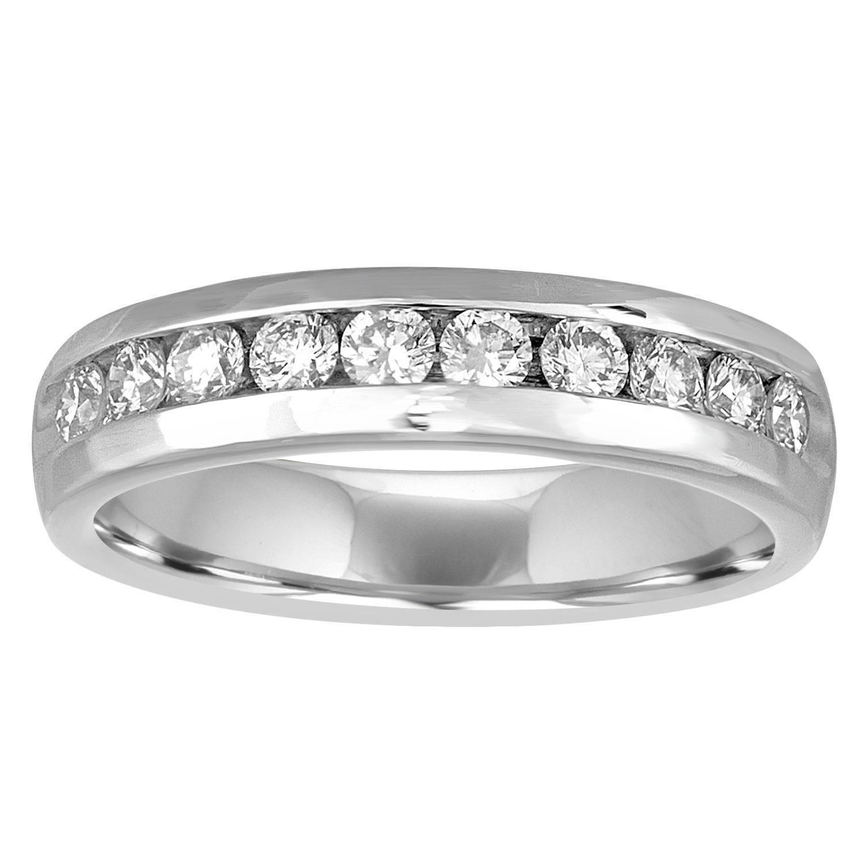 1stdibs 1.00 Carat Men Wedding Band Ring Modern Diamond