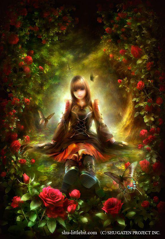 Arcana Rose By Shu アート Pinterest ファンタジーアート