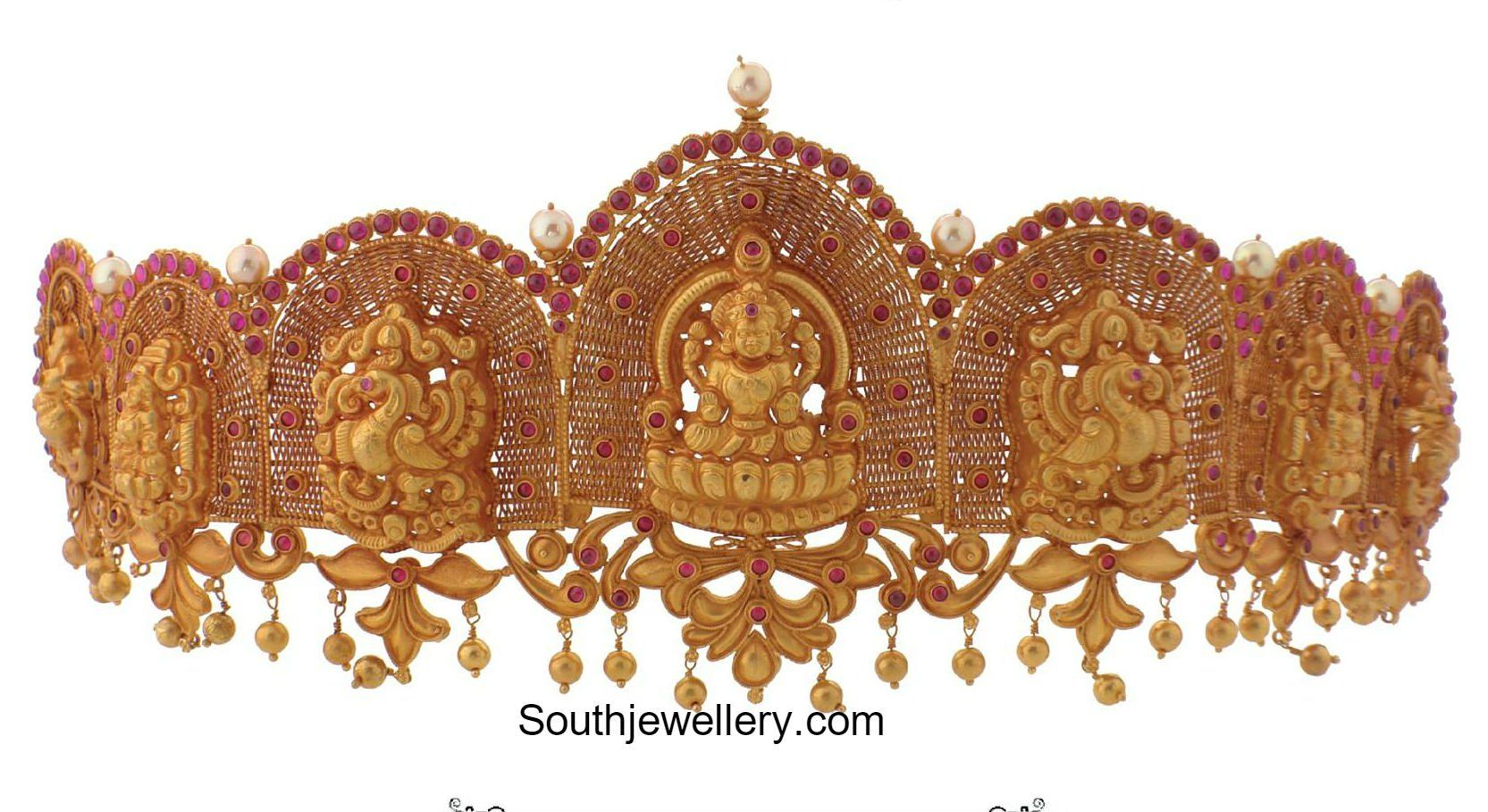 Gold vaddanam oddiyanam kammarpatta waisbelt designs south indian - Gold Vaddanam Oddiyanam Kammarpatta Waisbelt Designs South Indian 28