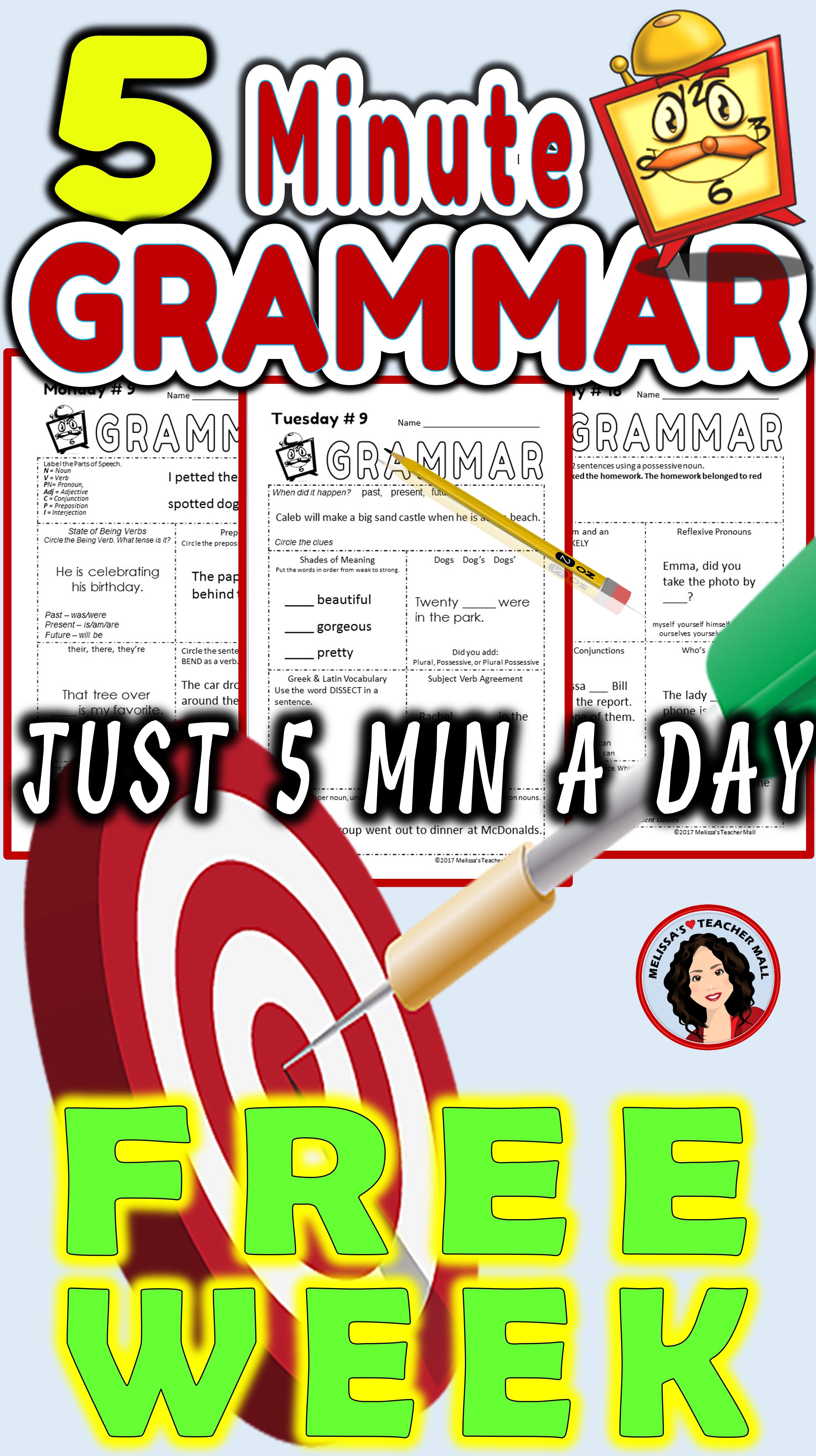 5 Minute Grammar A Quick Complete Approach To Grammar Free