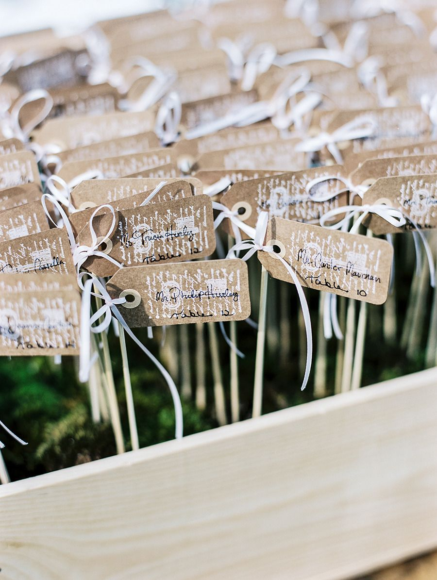 Escort Card Display -- Very DIY - able! See the wedding on SMP: http://www.StyleMePretty.com/2014/02/19/classic-bradley-estate-wedding/ Photography: Jillian Mitchell