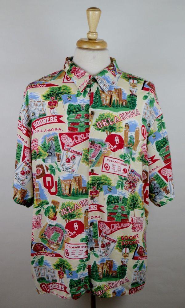 d1c8a76d3 Reyn Spooner OU Sooner Championship Men's XXL 2XL Short Sleeve Hawaiian  Shirt #ReynSpooner #Hawaiian