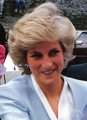 Bristol, wearing her sapphire earrings. 1987