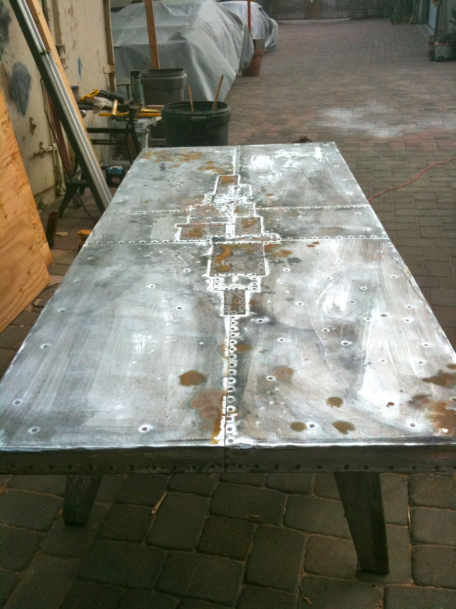 IMG_2632 (1536×2048) | Zinc Table Tops | Pinterest | Zinc Table,  Vintage Industrial And Tables