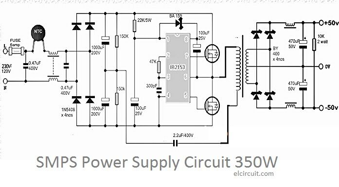 350W SMPS Power Supply Circuit DIY Audio Power supply
