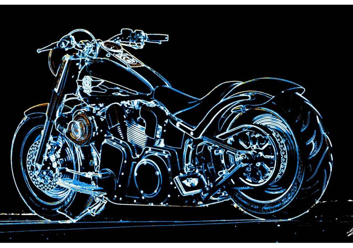 tableau harley davidson moto peinture moderne noir blanc peinture acrylique pop art balestra. Black Bedroom Furniture Sets. Home Design Ideas