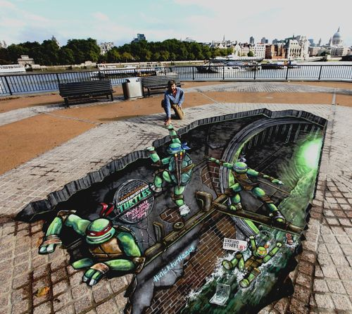 Teenage Mutant Ninja Turtles | 3D Street Art