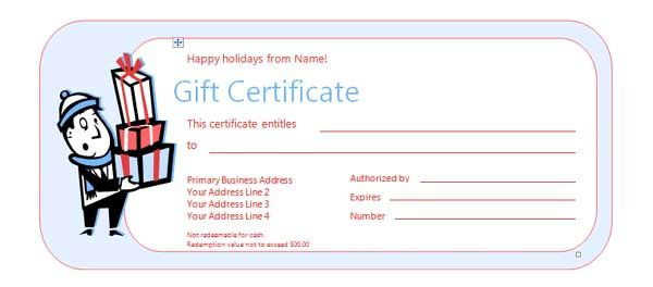 Doc Free Gift Certificate Template for Word microsoft word – Ms Word Gift Certificate Template