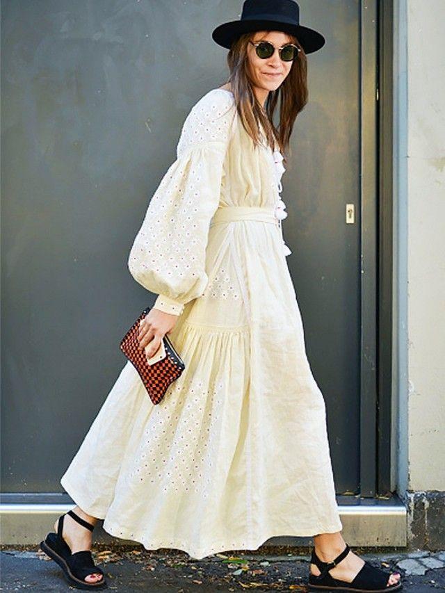 Vita Kin boho cream midi dress.
