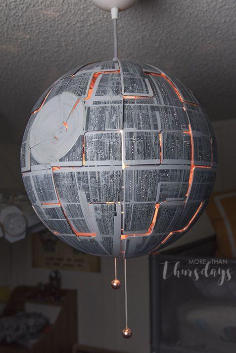 Max S Star Wars Bedroom Update Altered Ikea Light Fixture