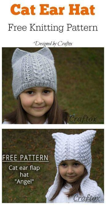 Cat Ear Hat Free Knitting Pattern : Cat Ear Hat Free ...