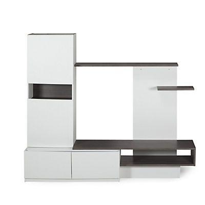 Fabio Grand meuble TV avec rangements Maison Pinterest - Meuble Tv Avec Rangement