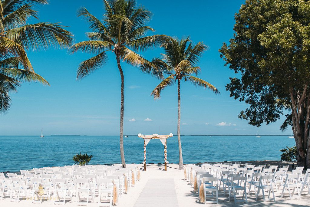 Waterview Ceremony Site At Key Largo Lighthouse Beach Wedding Venue In The Florida Keys