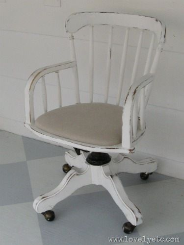 huge selection of 77bf6 cfe16 Cottage style banker's chair | DIY Fun | Shabby chic desk ...