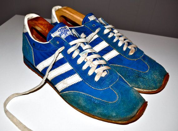 THE WINNER 2 Blue and White Vintage Sneakers 1970s by louise49, $40.00