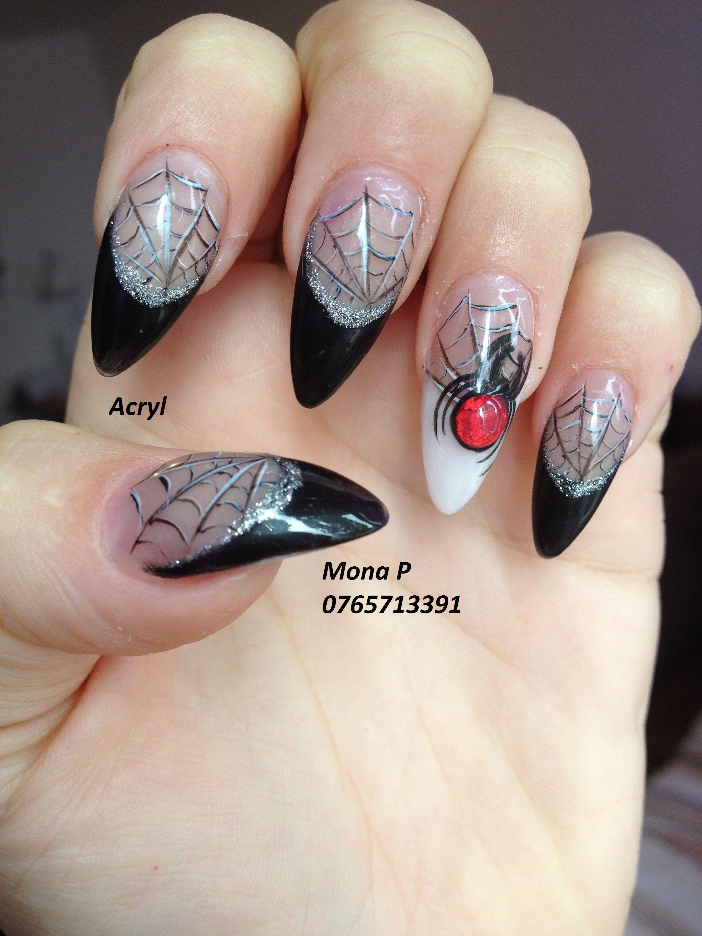 Acrylic halloween and liquid stone nail art nail art by mona p acrylic halloween and liquid stone nail art prinsesfo Image collections