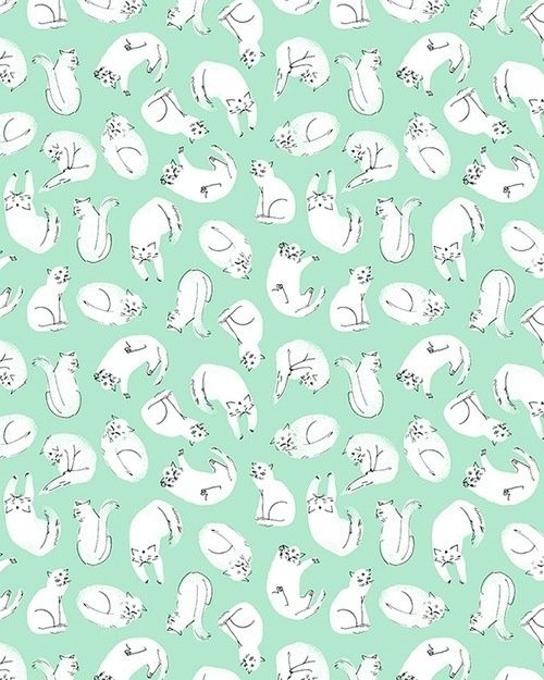 Cat Fabric And Paper Pattern By Esther Lara