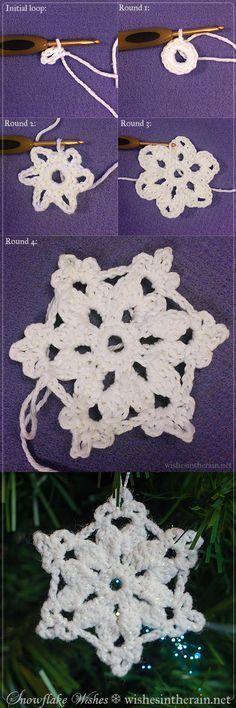 Free Pattern Snowflake Wishes 5 Crochet Snowflake Pattern