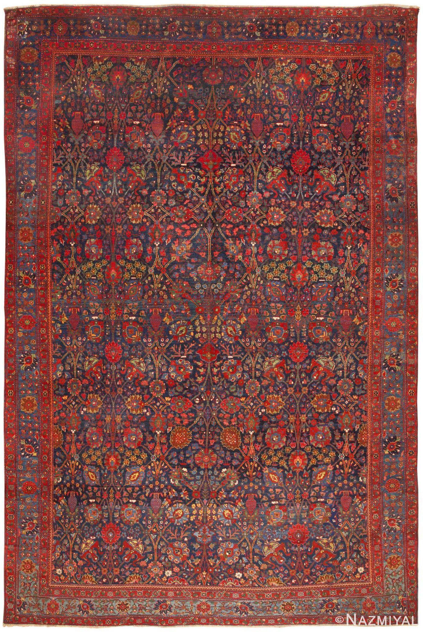 Antique Persian Kurdish Bidjar Rug 46363 By Nazmiyal Persian Rugs Rugs Antique Carpets Persian Carpet