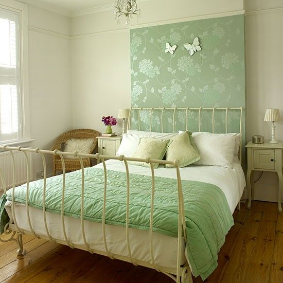 Transform A Spare Bedroom With Just One Roll Of Wallpaper And Statement Piece Furniture