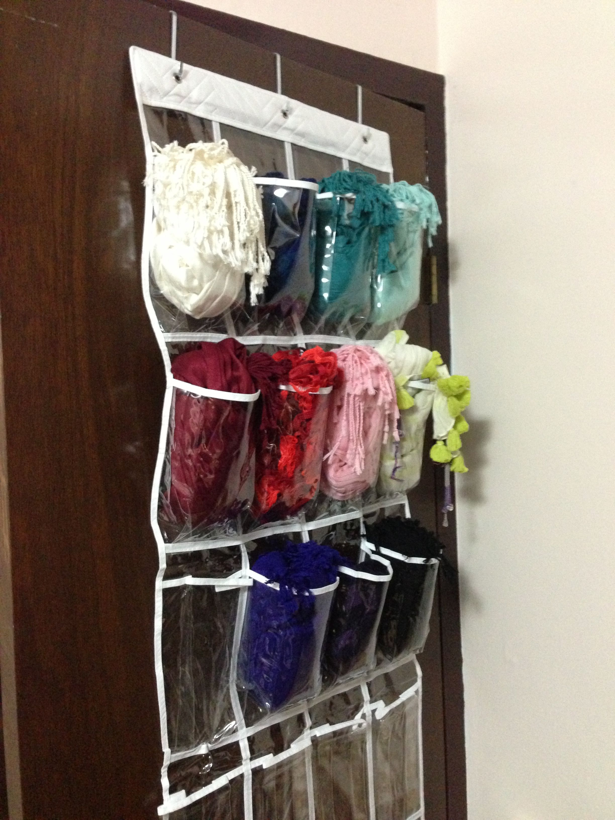 A new way to store your scarvesand winter hats gloves