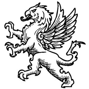 Gryphon Heraldry Image Public Domain