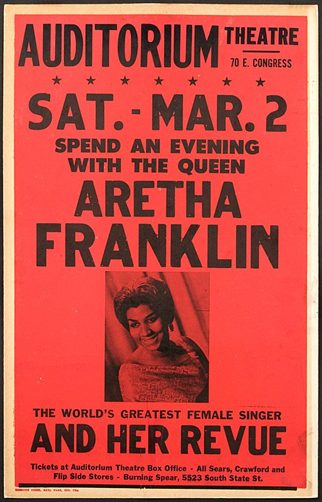 aretha franklin early concert poster