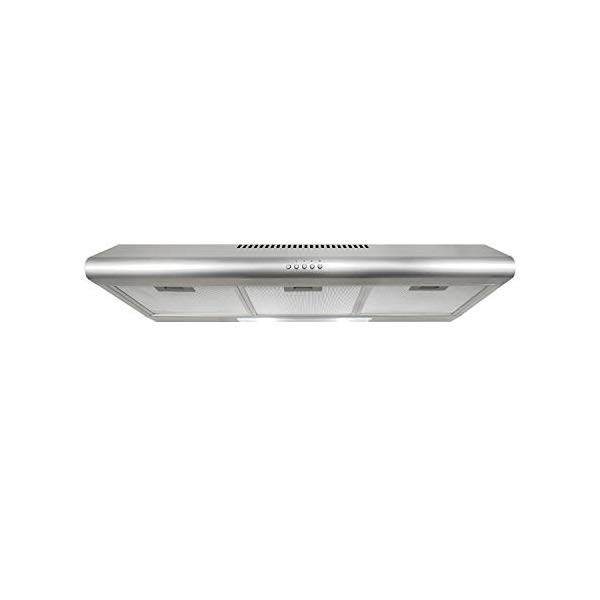 Cosmo 5mu36 36 In Under Cabinet Range Hood 200 Cfm Ducted Ductless Convertible Top Rear Duct Slim Kitchen Stove Vent With Led Lights 3 Exhaust Fan Spee Exhaust Fan Range Hood