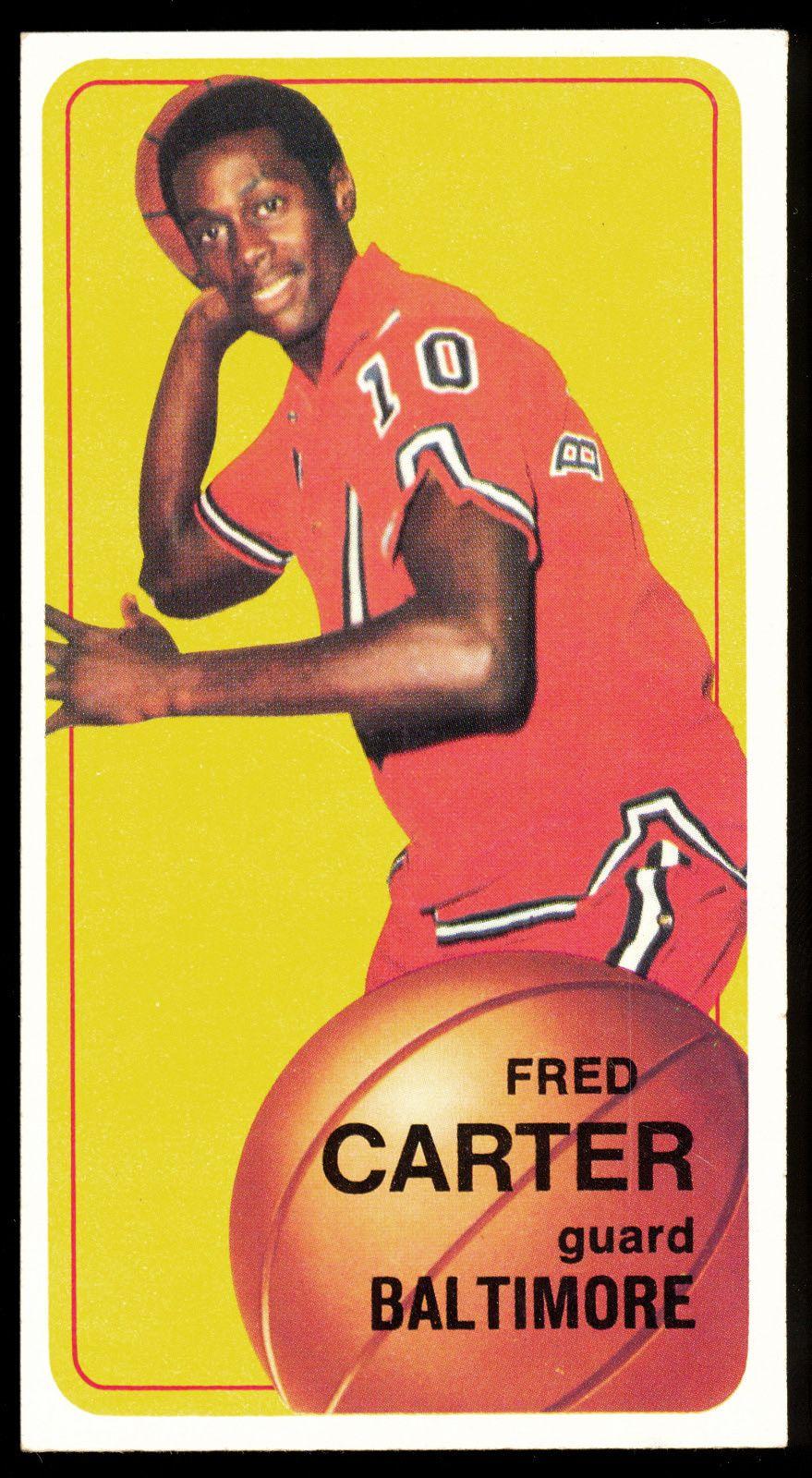 Fred Carter Baltimore Bullets NBA Pinterest