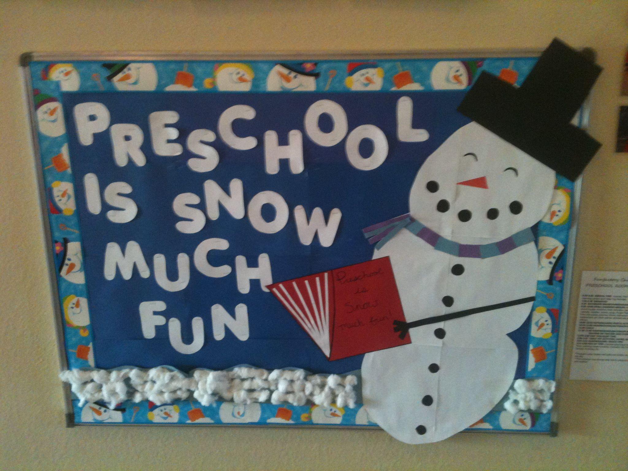 Preschool Is Snow Much Fun