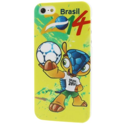 Ultra Slim Plastic Protective Case World Cup Brazil 2014 for iPhone 5/5s(YELLOW)
