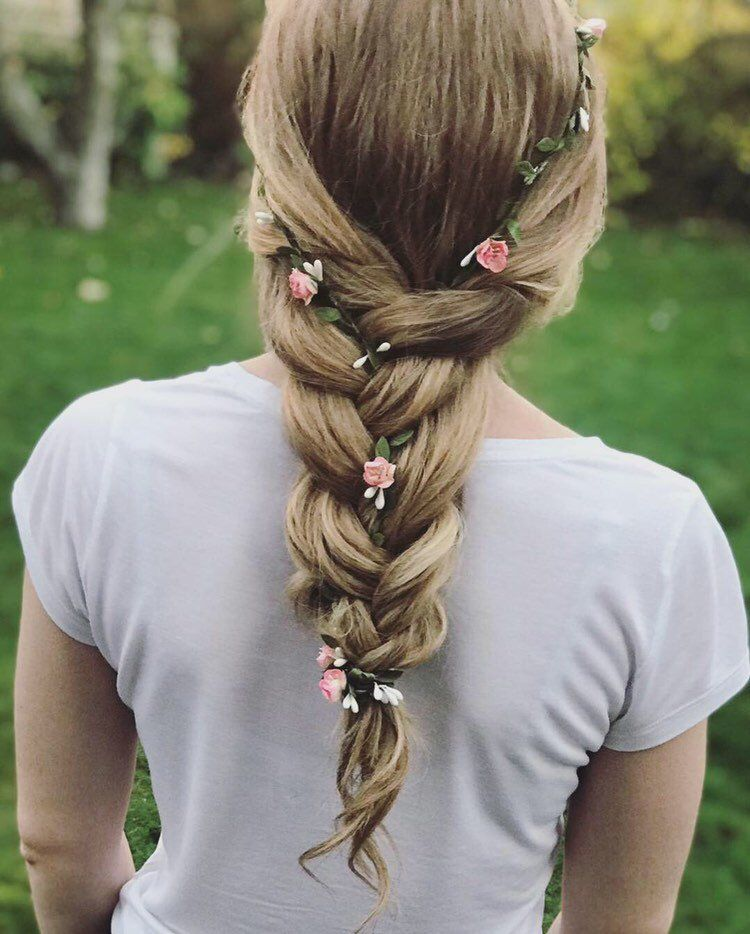 Ballet recital garden party hair vine Holy communion Bridesmaid Wedding Hair Pin Bridal Headpiece Bun pin Prom Flowergirl