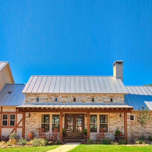 Residential Custom Home Cottage House Exterior Hill Country Homes Farmhouse Architecture
