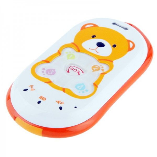 mini traceur gps gsm gprs sos mini t l phone enfant ourson orange nounours traceur enfant. Black Bedroom Furniture Sets. Home Design Ideas