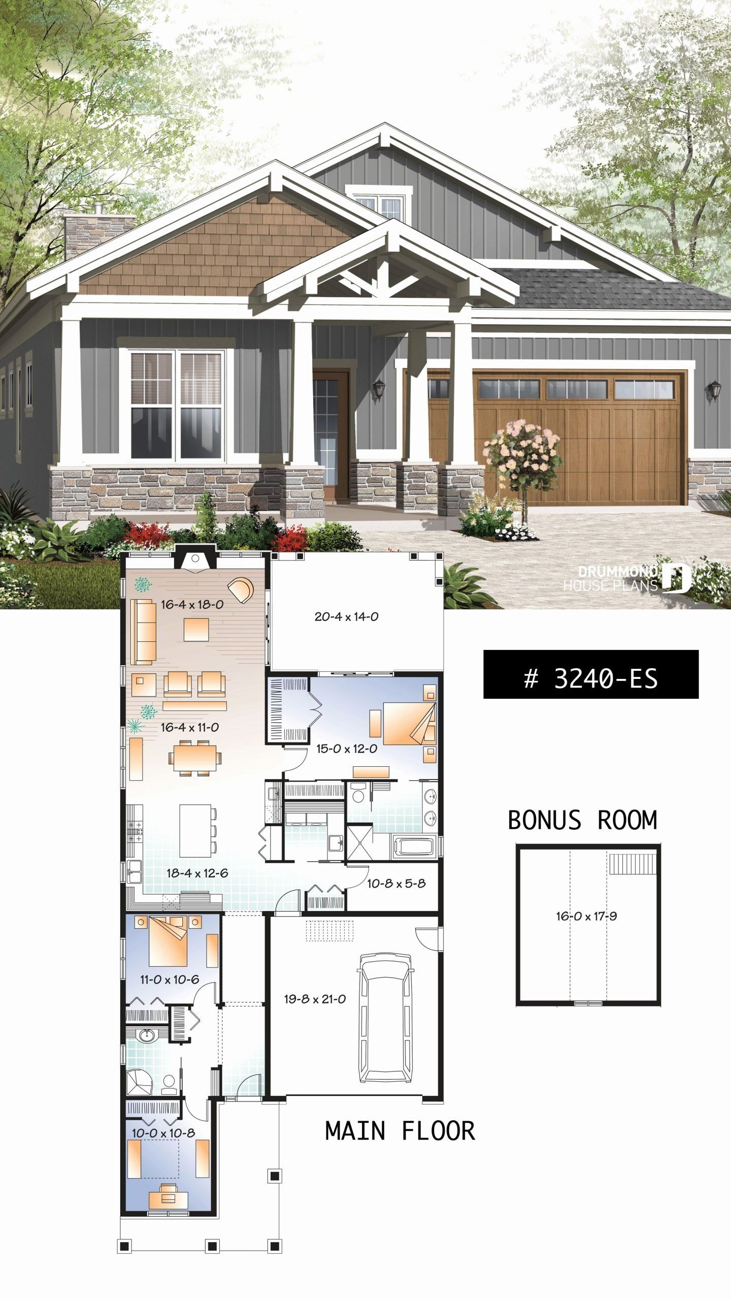 Craftman Style House Plans Fresh House Plan Northaven No 3240 Es In 2020 Craftsman Bungalow House Plans Bungalow Floor Plans Craftsman House Plans