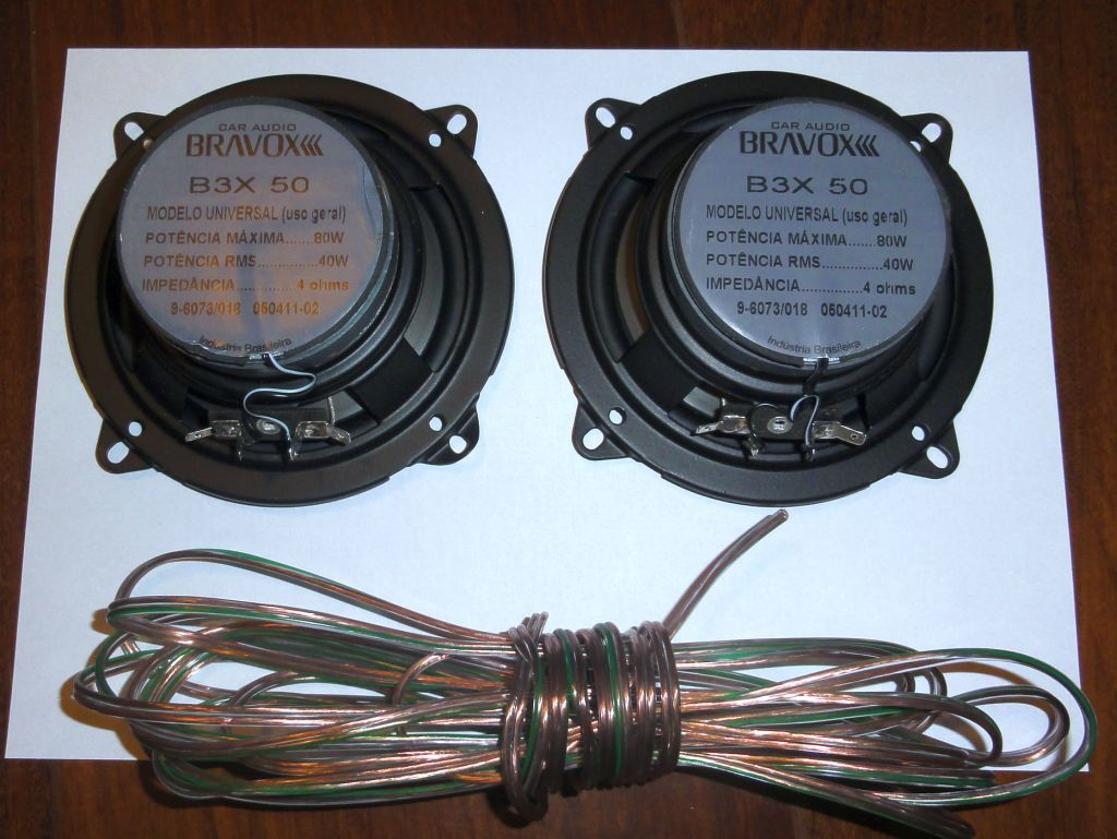 Speaker and wires uses in the installation. Rear Speakers, Suzuki Jimny,  Offroad,